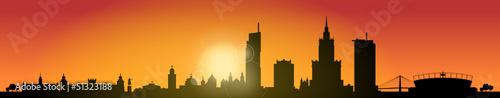 Skyline Warszawa Sunrise|51323188