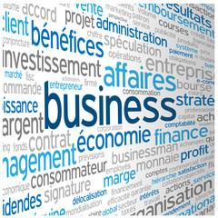 Nuage de Tags BUSINESS (commerce administration entreprise b2b)