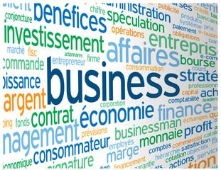 """Nuage de Tags """"BUSINESS"""" (commerce économie entreprise clients)"""
