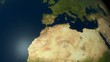 Zoom to Europe with high detailed NASA images for the earth.