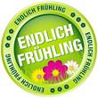 """Button """"Endlich Frühling"""" grün"""