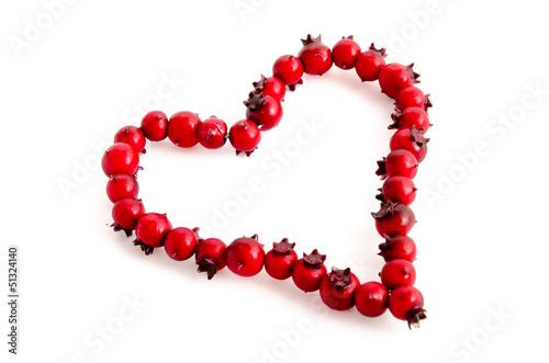Herz aus roten Beeren