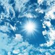 Blue sky with white clouds - digital artwork