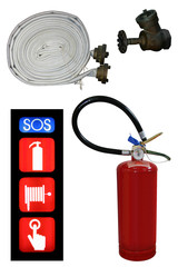 Extinguisher set