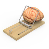 Brain caught in mousetrap