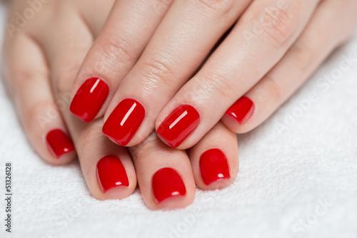 Red manicure © tamara83