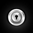 Metallic lock icon