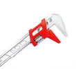 adjustable spanner colored red for plumbing