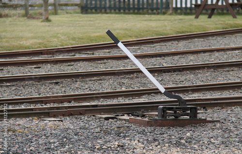 A Manually Operated Railway Train Track Points Lever.