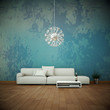 canvas print picture - Sofa vor bunter Wand