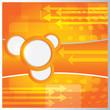 Vector modern orange background