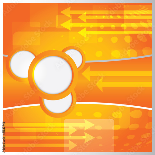 Vector modern orange background