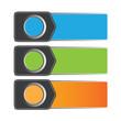 Vector color banner/sticker design