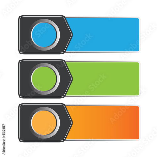 Vector color banner/sticker design