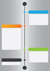 Vector timeline design template