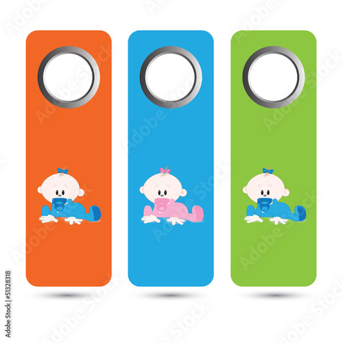 Vector cute baby price tags