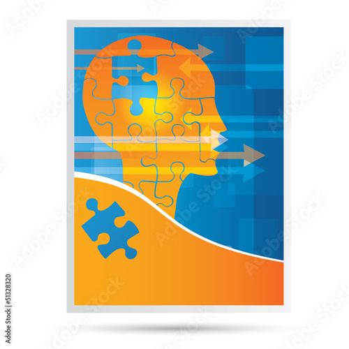 Vector modern science, idea, success cover design