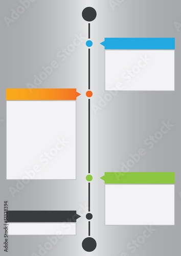 Vector timeline design template