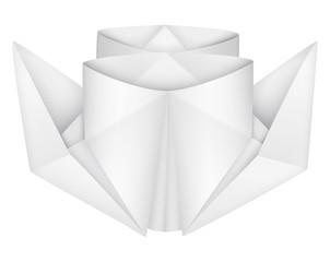 Origami steamship