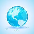 Globe and drops