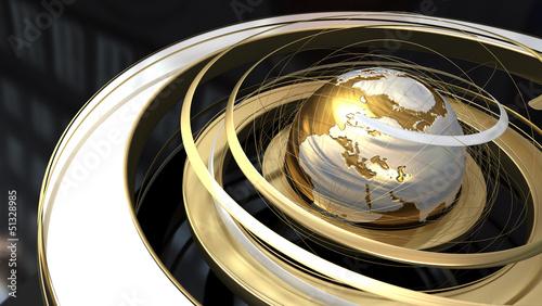 World gold background