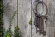 Ancient key ring, rustic garden