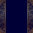 Vector gold ornate border