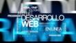 Desarrollo web soluciones en línea nube de etiquetas animación