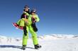 enfants au sports d'hiver