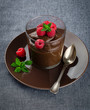 chocolate mousse and raspberry