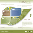Modern Ecology infographics. Design template . Vector