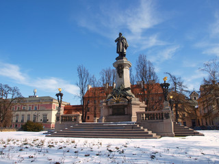 Mickiewicz monument from Warsaw