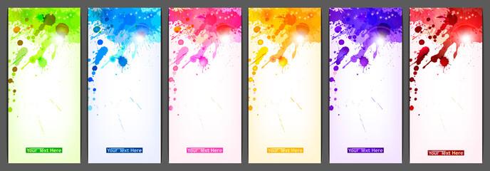 Set of six banners. eps10