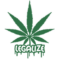 Legalize Weed Graffiti