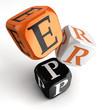 Erp orange black dice blocks