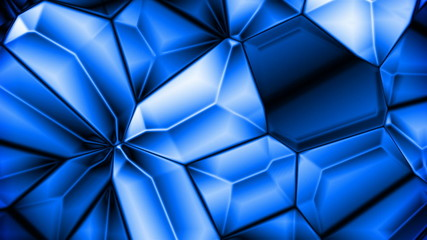 Blue crystalline background (seamless loop)