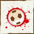 Grunge splash soccer