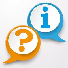 Question Information Speech Bubble Labels