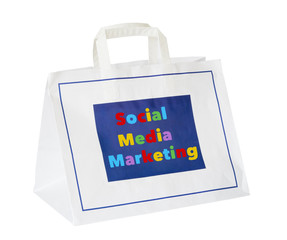 social media and network marketing concept ,shopping bag, isolat