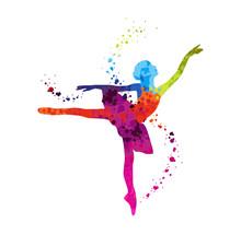 Klassische Tänzer Peas Bunte