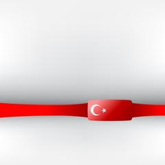 Banner in türkischen Farben