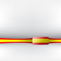 Banner in spanischen Farben