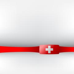 Banner in schweizer Farben