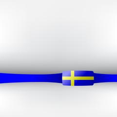 Banner in schwedischen Farben
