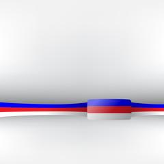 Banner in russischen Farben