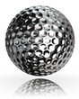 golf ball silver metal