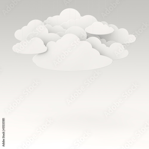 clouds on rope