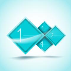 aqua rhombus options banners