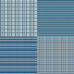 Checkered Seamless - Blue