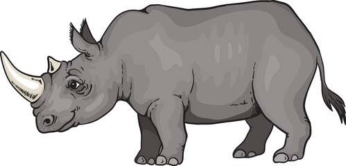 A cartoon rhino from Africa